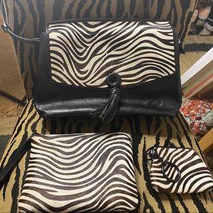 Patricia Nash Mollia Zebra Calf-hair Bundle -EUC